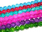 8mm crackled glass beads